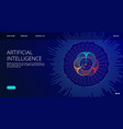 artificial intelligence landing page ai vector image