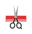 Barbershop scissor with comb