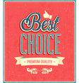 Best choice typographic design vector image vector image