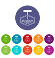 bottle opener icons set color vector image vector image