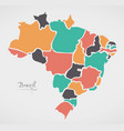 brazil map with modern round shapes vector image vector image