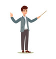 businessman character set animate character male vector image vector image