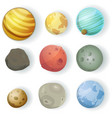 cartoon planets set vector image