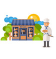 chief people bakery worker vector image