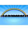 city rainbow vector image