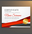 clean modern certificate of excellence design vector image vector image