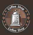 coffee logo - emblem set desi vector image vector image