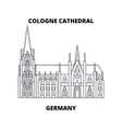 cologne cathedral germany line icon concep vector image vector image