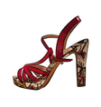 Colorful elegant womens high heel shoe vector image vector image