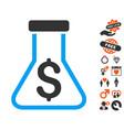 financial alchemy icon with valentine bonus vector image