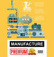 flat industrial manufacturing poster vector image vector image