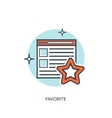 Flat linedstar favorite star icon Browser icon vector image vector image