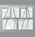 flyer a4 template a folding brochure and a narrow vector image vector image