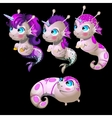 Four cute mutants unicorns male and female vector image vector image