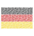 german flag mosaic of key items vector image vector image