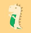 godzilla scary toothy monster aggressive dinosaur vector image vector image