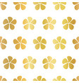 gold foil flowers seamless pattern white vector image vector image