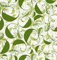 Green decorative curly seamless pattern with vector image