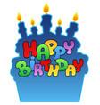 happy birthday theme 3 vector image vector image