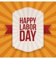 Happy Labor Day big white Banner vector image vector image