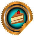 Icon of chocolate cake vector image