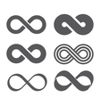 Infinity sign Mobius strip vector image vector image