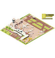 isometric airport terminal vector image