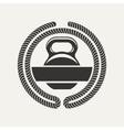 kettlebell logo vector image vector image
