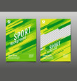 layout template design sport background dynamic vector image vector image