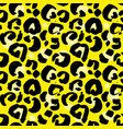 leopard print seamless pattern yellow hand drawn vector image