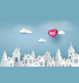 love and valentine day balloon heart shape vector image