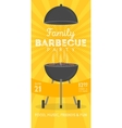 Lovely barbecue party invitation design vector image vector image