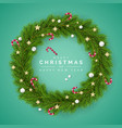merry christmas and happy new year greating card vector image