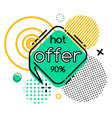 offer 90 percent off final sale geometric shapes vector image