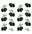 Olives Pattern vector image vector image