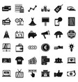 online buying icons set simple style vector image vector image