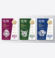 pet food label templates set abstract vector image