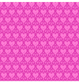 pink seamless pattern with hearts and beads vector image vector image