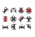 Pipe fitting set Pipeline Pipe fitting for repair vector image vector image