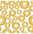 poppy bagel seamless pattern vector image vector image