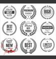 premium quality laurel wreath collection vector image vector image