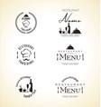 restaurant label set vector image vector image