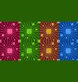retro colorful seamless pattern simple dark vector image vector image