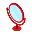 Round table mirror icon isometric 3d style vector image