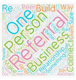 Rules Of Business Referral Etiquette text vector image vector image