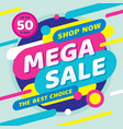 sale mega discount up to 50 percent off concept p vector image