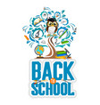 school background with owl vector image vector image