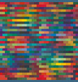 seamless abstract bright bricked stripes pattern vector image
