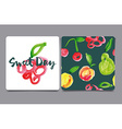 Seamless pattern of fruit vector image vector image