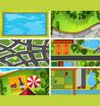 set aerial landscape vector image vector image